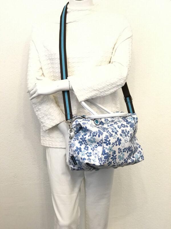 Tasche Gabs gemustert weiss/blau