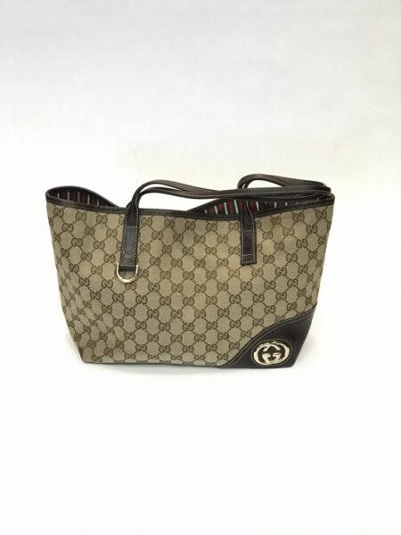 Tasche Gucci Shopper mit Lederdetails