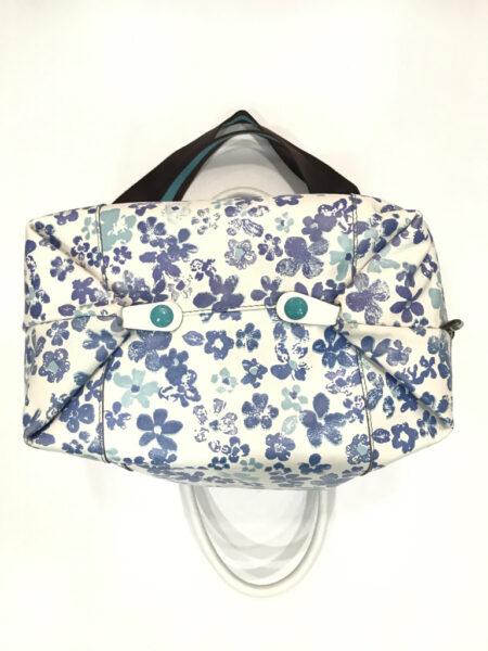 Tasche Gabs gemustert mit Schulterriemen weiss blau