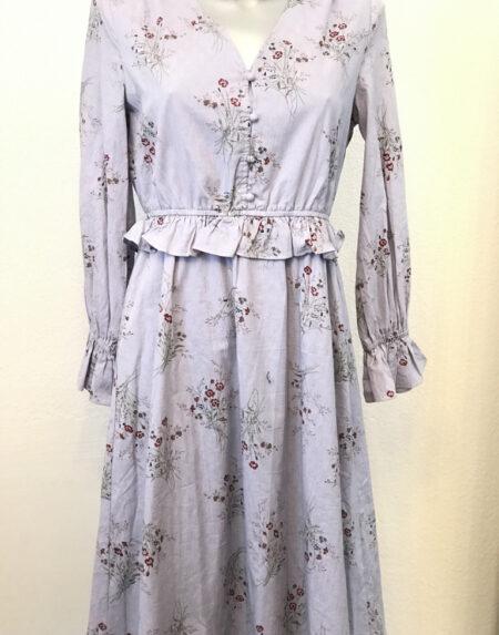 Kleid Reken Maar rauchblau gemustert Grösse M