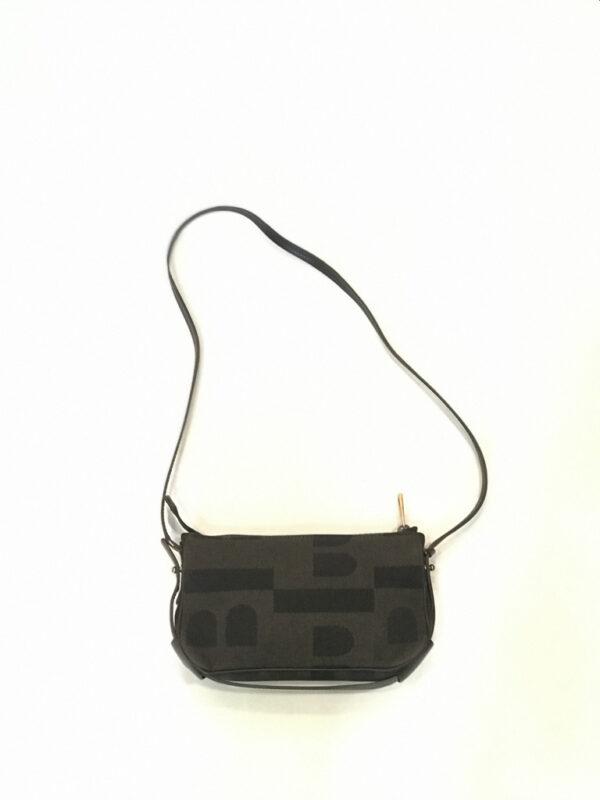 Tasche Pochette Crossbody Bally Stoff/Leder antrazit/schwarz