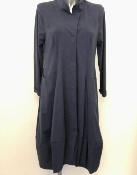 Kleid Mantelkleid Gudrun Grenz blau Grösse S/M