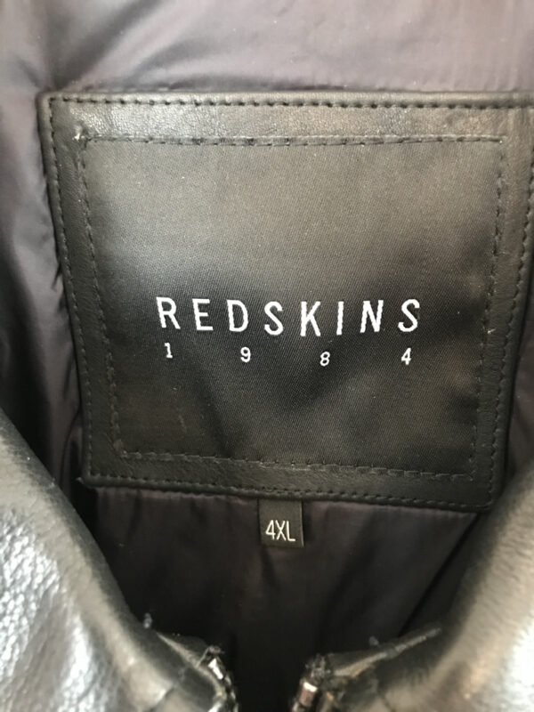 Lederjacke Redskins schwarz