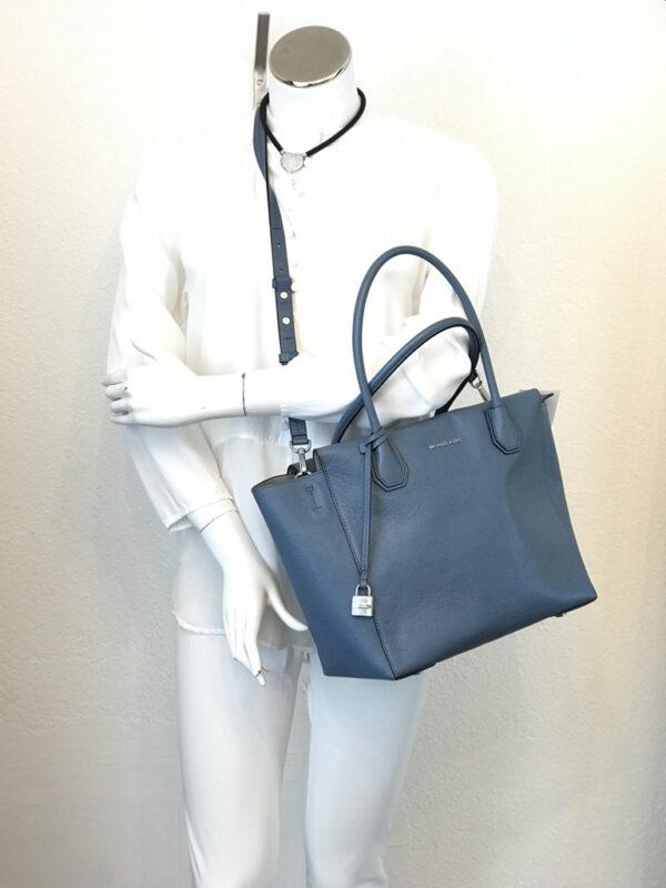 Tasche Shopper Michael Kors Leder eisblau