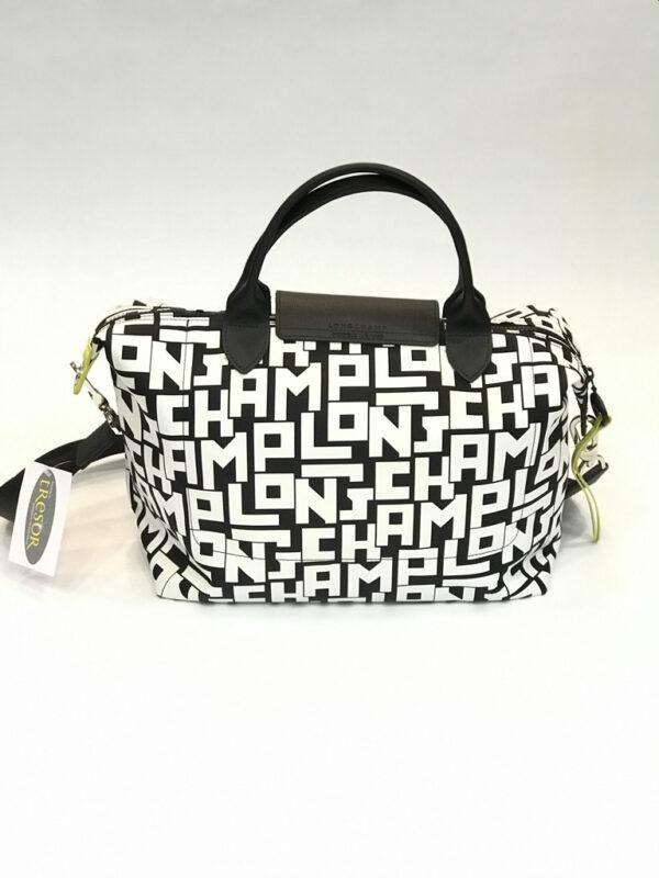 Tasche Longchamp Le Pliage LGP Nylon schwarz-weiss