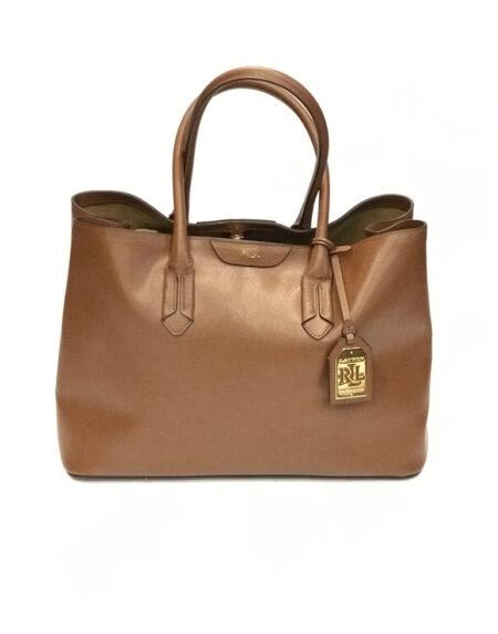 Tasche Ralph Lauren Leder cognac