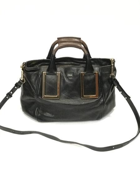 Tasche Chloé Vintage Leder schwarz