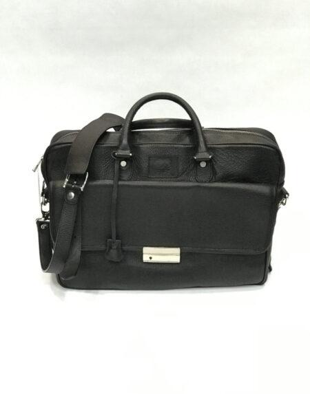 Business Bag Maison Mollerus Fifa Leder schwarz