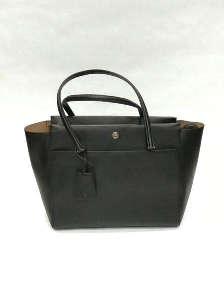 Tasche Shopper Tory Burch Leder schwarz