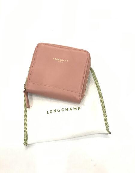 Portemonnaie Longchamp Leder rosa