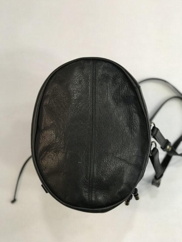 Rucksack Tasche Bruno Rossi Leder schwarz